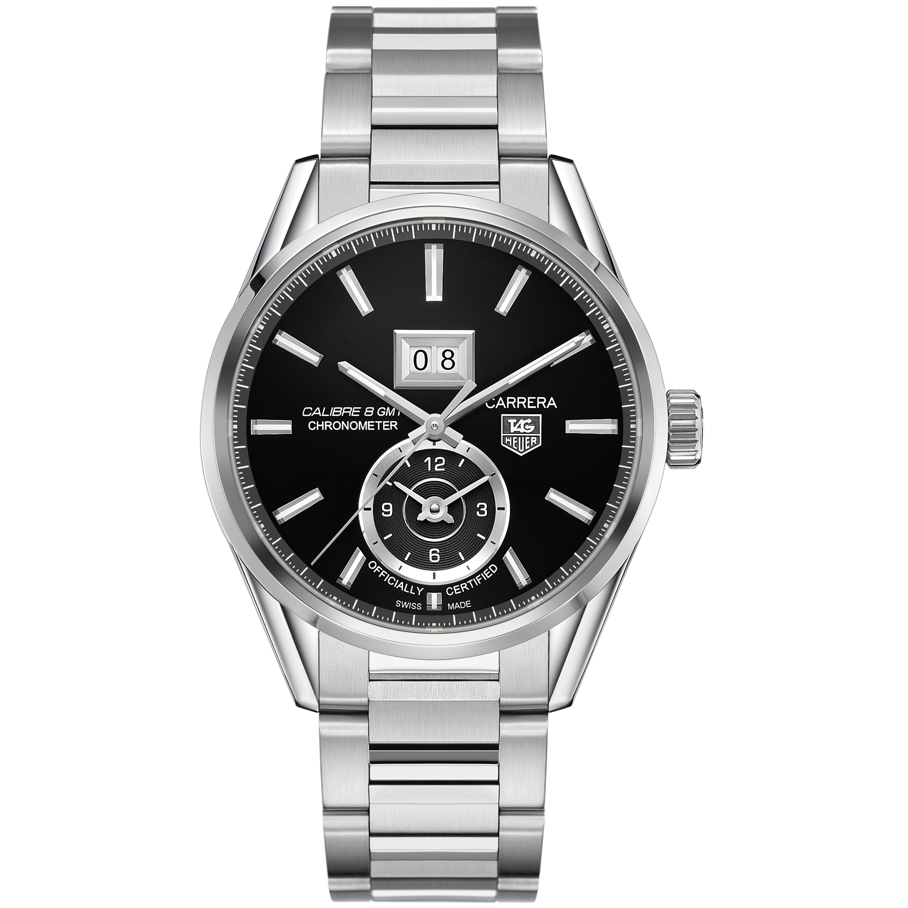TAG Heuer Carrera Calibre 8 GMT and Grande Date Automatic Watch 41MM