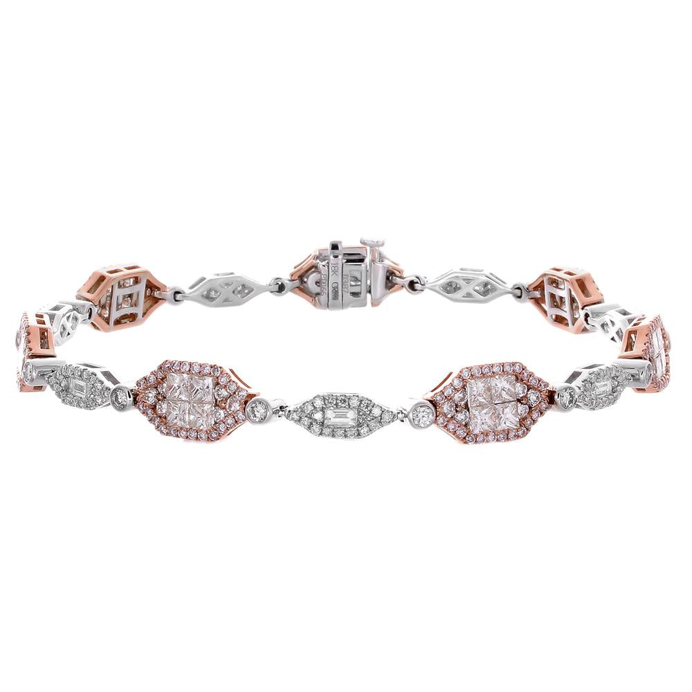 cp pave artistic signature diamond collections pink bracelets innovations and pav sapphire bracelet