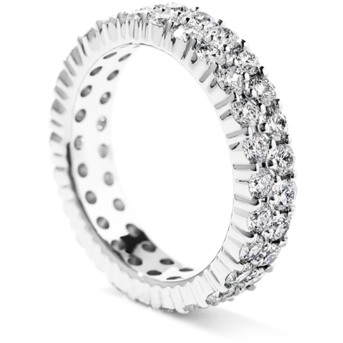 Hearts on Fire Double Row Diamond Eternity Band Ring