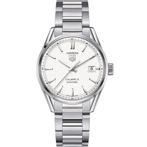 Tag Heuer Automatic Calibre 5 Carrera Grey Dial Stainless Steel Watch 39MM WAR211B.BA0782