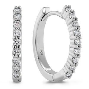 Hearts on Fire Mini Diamond Hoop Earrings .25 Carats White Gold