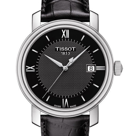 Tissot Gents Bridgeport Quartz Black Leather 40MM Watch T0974101605800