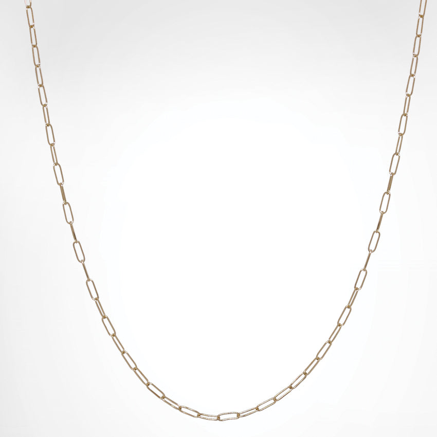 Heather Moore 2mm 14K Yellow Gold Long Link Chain 16""
