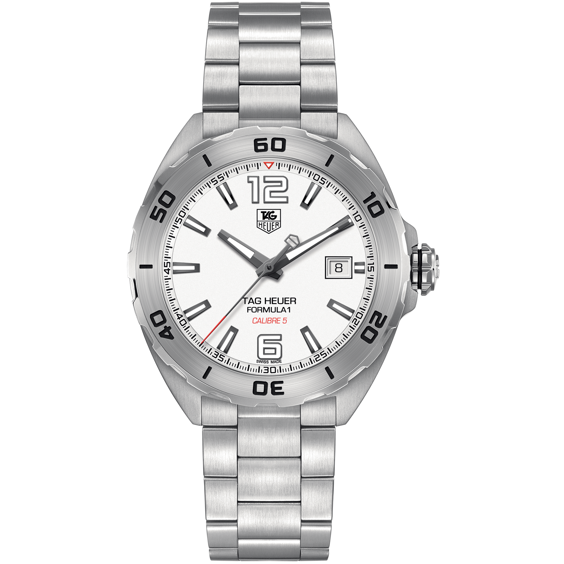 TAG Heuer Formula 1 Calibre 5 Automatic Watch 41mm White WAZ2114.BA0875