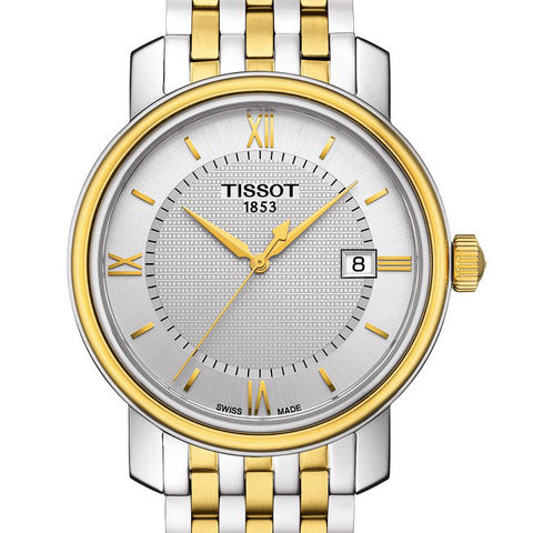 Tissot Mens 40MM T-Classic Bridgeport Quartz  Two-Tone Watch T0974102203800