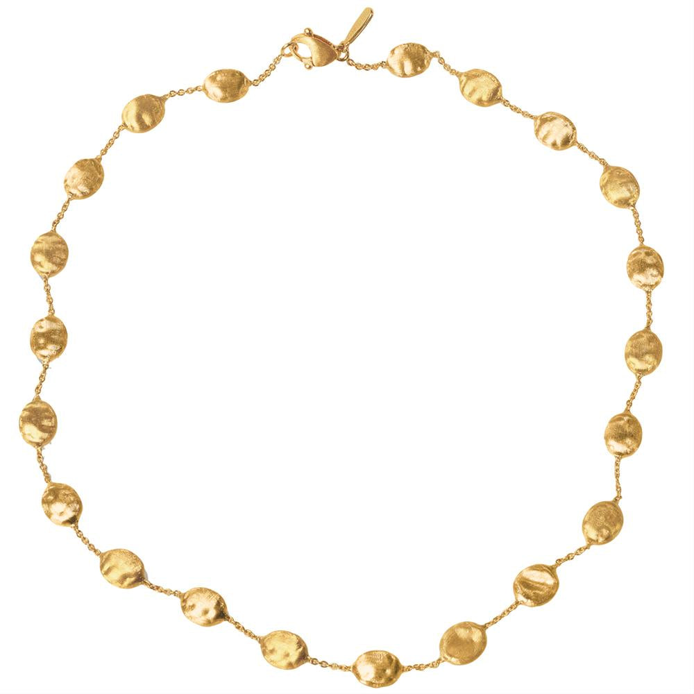 "Marco Bicego Siviglia 18K Yellow Gold 16"" Bead Necklace CB553 Y"