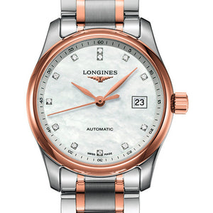 Longines Master Automatic Mother of Pearl Stainless Steel/Gold Cap 200 29MM L22575897