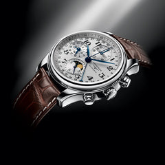 Longines Master Automatic Chronograph Moonphase Brown Alligator Watch 40MM L26734783