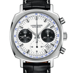 Longines Heritage Automatic Chronograph Black Alligator Strap Watch 40MM L27914720