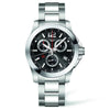 Longines Conquest Black Chronograph Stainless Steel Watch 41MM L37004566
