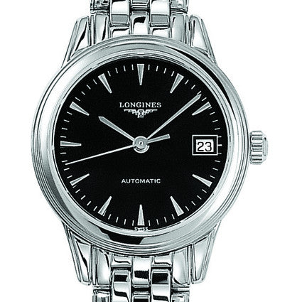 Longines Flagship Automatic Black Dial Stainless Steel Watch 26MM L42744526