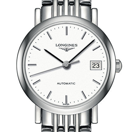The Longines Elegant Automatic White Dial Watch Stainless Steel Bracelet 25MM L43094126