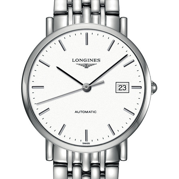 The Longines Elegant Automatic White Dial Watch Stainless Steel Bracelet 37MM L48104126