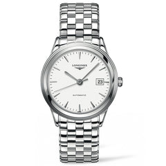 Longines Flagship Automatic White Dial Stainless Steel Bracelet Watch 38MM L48744126