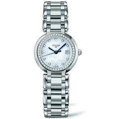 Longines PrimaLuna Quartz Mother of Pearl Watch Stainless Steel Bracelet 26MM L81100876