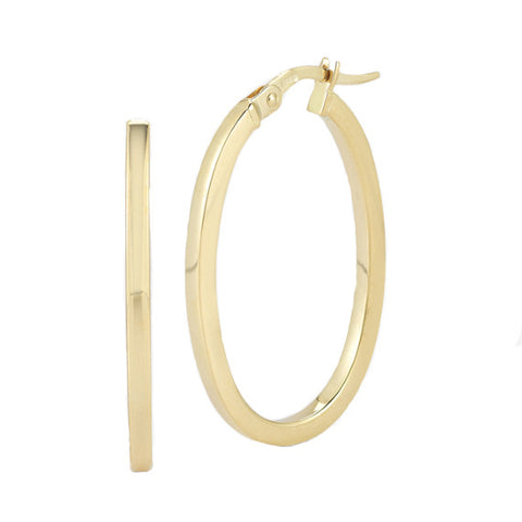 Roberto Coin 18k Yellow Gold 25MM Perfect Hoop Earrings