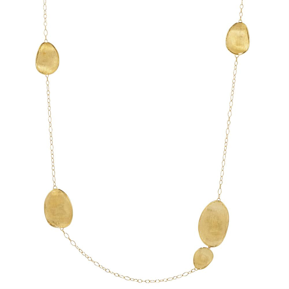 "Marco Bicego Lunaria Oval 18K Yellow Gold 39"" Necklace CB1791"