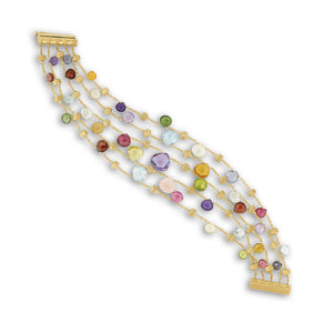 Marco Bicego 18 Karat Yellow Gold 5-Strand Paradise Collection Bracelet BB2010 MIX01 Y
