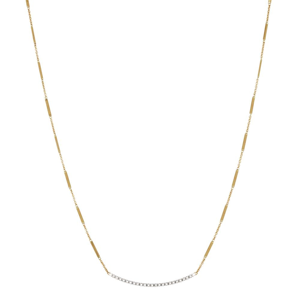 "Marco Bicego Goa Diamond Bar Yellow Gold Link Necklace 16"" CG713 BYW"