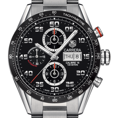 Tag Heuer Carrera 100M Calibre 16 Day-Date Automatic Chronograph 43MM CV2A1R.BA0799 stamford