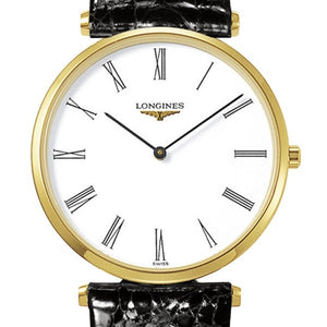 Longines La Grande Classique Quartz PVD Case Alligator Watch 33MM L47092112 Stamford CT Nagi