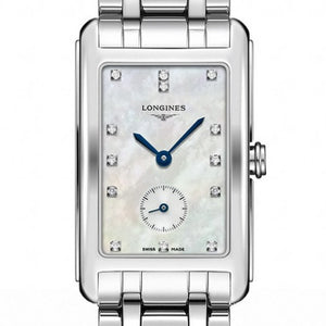 Longines DolceVita Mother of Pearl Quartz Diamond Watch 23MM L55124876 stamford