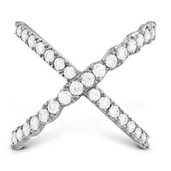 Hearts on Fire Lorelei Diamond Criss Cross Ring 18K White Gold .98cts