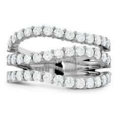 Hearts on Fire Atlantico Triple Wave Diamond Right Hand Ring 18K White Gold