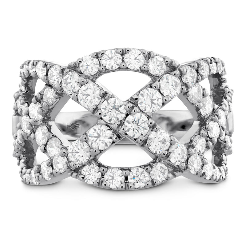 Hearts on Fire Intertwining Diamond Right Hand Ring 1.5 Carats