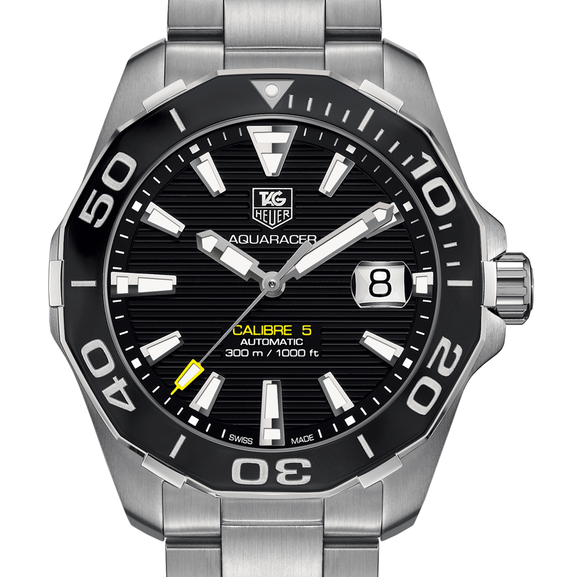 TAG Heuer Aquaracer 300M Calibre 5 Automatic Watch 41mm Black WAY211A.BA0928