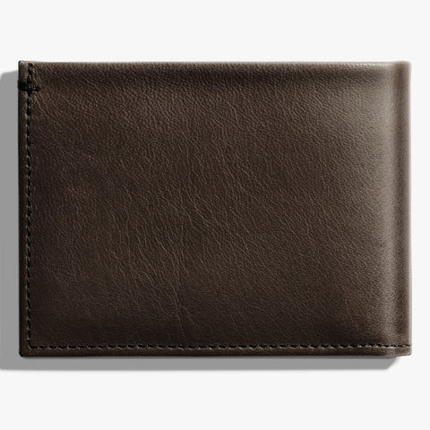 Shinola Deep Brown Leather Slim Bi-Fold Wallet
