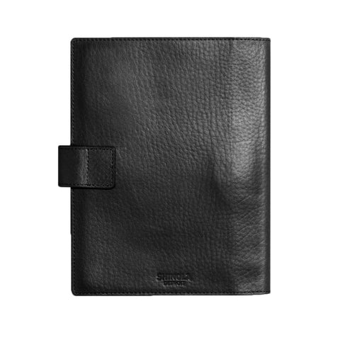 Shinola Large Journal Cover with Tab in Black Leather