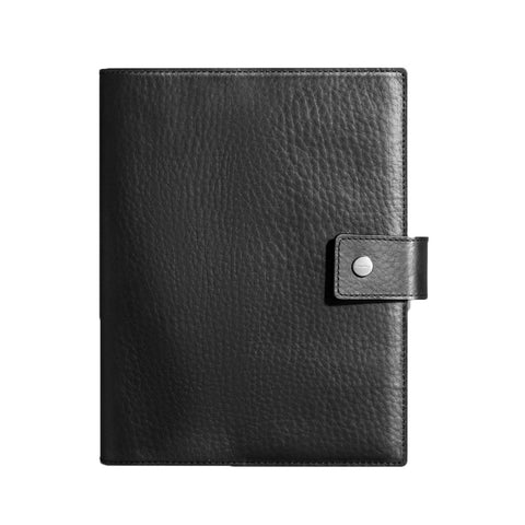 Shinola Large Journal Cover with Tab in Black Leather notebook