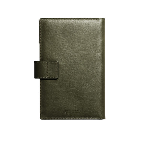 Shinola Medium Journal and iPad Mini Cover with Tab in Spruce Leather