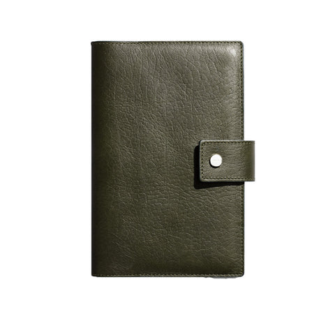 Shinola Medium Journal iPad Mini Cover in Spruce green Leather