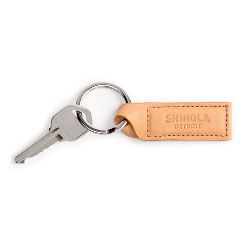 Shinola Twist Key Fob in Natural Leather stamford