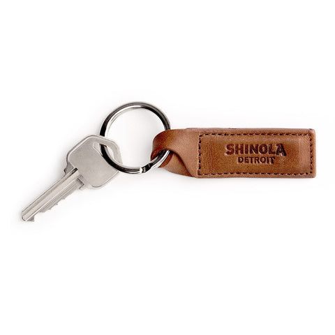 Shinola Twist Key Fob in Dark Coffee Leather