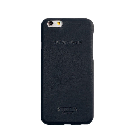 Shinola Leather Wrapped Case iPhone 6 in Navy Blue Apple stamford