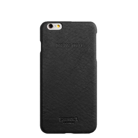 Shinola Leather Wrapped Case for iPhone 6 Plus in Black apple