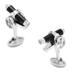 Jan Leslie Moving Cannon Cufflinks with Onyx Inlay Sterling Silver S169OX