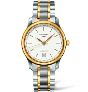 Longines Automatic Master White Dial Stainless Steel and 18k Yellow Gold 38MM L26285127 fairfield