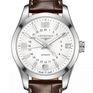 Longines Automatic Conquest White Dial Brown Alligator 42MM L27994763 watch stamford