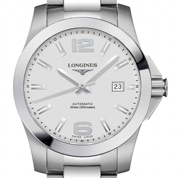 Longines Conquest Automatic Silver Dial Stainless Steel Watch 39MM L36764766 darien