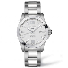 Longines Conquest Automatic Silver Dial Stainless Steel Watch 39MM L36764766 stamford nagi