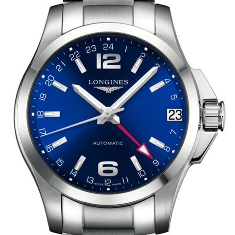 Longines Automatic Conquest Blue Dial Stainless Steel Watch 41MM L36874996 stamford nagi