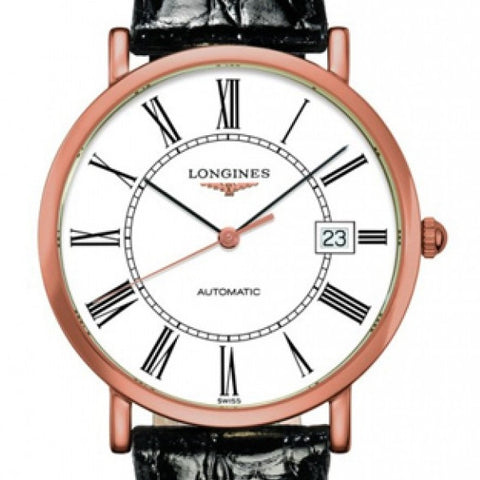 Longines Elegant Automatic Roman Numerals 18k Rose Gold Watch 37MM L47878110 stamford