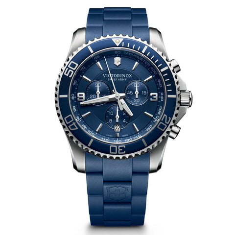 mens maverick chronograph watch with a blue dial 241690