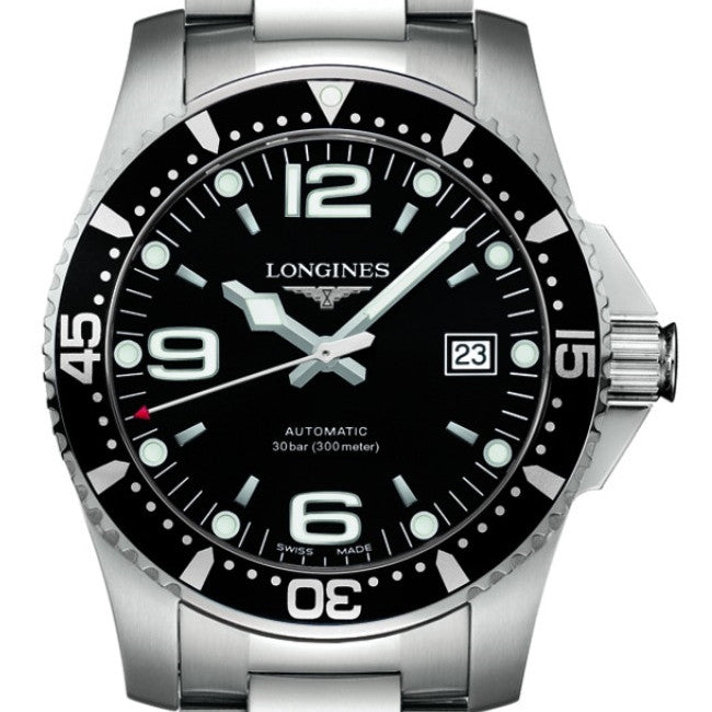 Longines Automatic Hydroconquest Diving Black Dial and Bezel 41MM L36424566 stamford norwalk