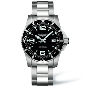 Longines Automatic Hydroconquest Diving Black Dial and Bezel 41MM L36424566  fairfield nagi