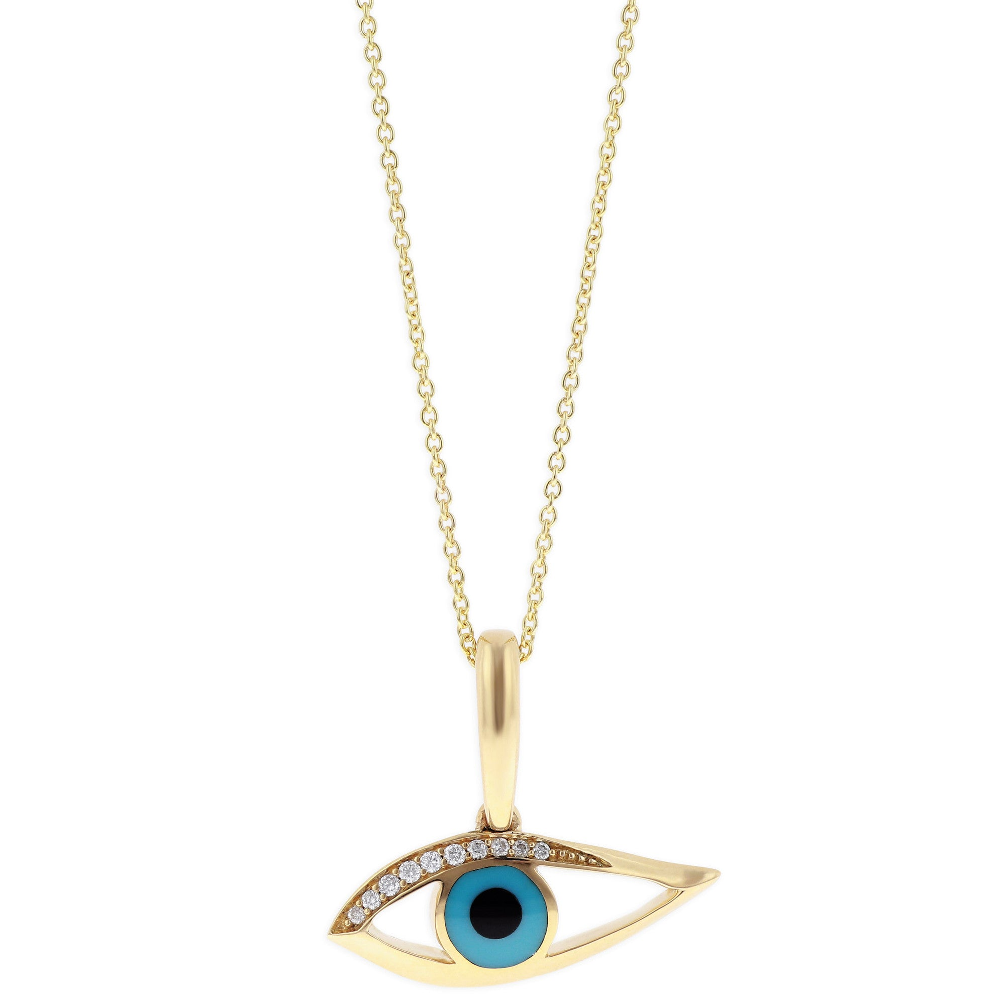 ksvhs evil with and eye dot jewellery pretty charms gold diamond charm necklace